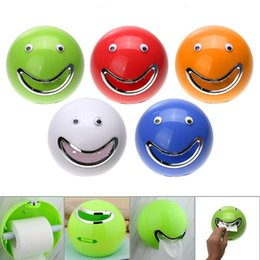 Wholesale Multi Towel Holder - Circle Facial Expressions Paper Extraction Cartoon Multi Color Bathroom Tissue Box Container Towel Napkin Tissue Holder