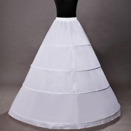 Wholesale Hoop Skirts Dresses - Hot sale 4 Hoop Ball Gown Bridal Petticoat Bone Full Crionline Petticoat Wedding Skirt Slip New H-4 underskirt dress