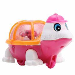 Wholesale Little Turtle Toys - Wholesale- New Developmental Baby Infant Lovely Pull Emitting Little Turtle Light Kids Toy