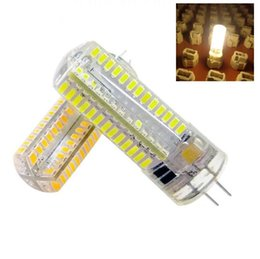 Canada Ampoule à économie d'énergie G4 104 LEDs 3014 SMD Silicone 360 Angle de faisceau Bougie Lampe Ampoule Cristal Lustre Éclairage 220 V 110 V Maïs Ampoule Offre