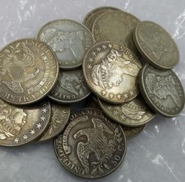 Wholesale Collectible Carvings - (1807-1824)mix dates CAPPED BUST HALF DOLLAR COIN COPY High Quality(17pieces)