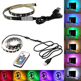 led light background decoration Promo Codes - USB led strip light DC5V RGB Flexible 5050 SMD strip Ribbon Adhesive tape TV Background lighting