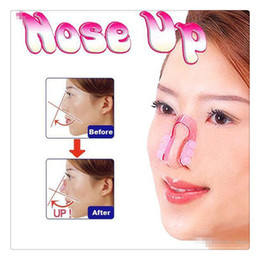 Wholesale nose up beauty - 2017 Hot Nose Up Bridge Straightening Shaping Lifting Nose Up Clip Silicon Gel Beauty Nose Shaper For Body Support Corrector Beauty Clip DHL
