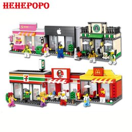 Wholesale Mini Architecture - 188-208 Six Designs Of New Street Scene Series Mini Assembled Block Architectures Building Brick Learning Toy For Kids Aged 6+