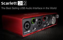 Deutschland 2017 neue FOCUSRITE Scarlett 2i2 (2nd gen) 2 in / 2 aus USB 2.0 Gitarre aufnahme audio schnittstelle USB2.0 soundkarte kostenloser versand Versorgung