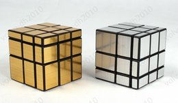 Wholesale Puzzle High Quality - 3x3x3 CY Gold   Silver Mirror Cube Magic Cube Black hot selling factory price DHL freeshipping high quality LLFA9068