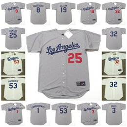 Wholesale JOHN ROSEBORO JIM GILLIAM FRANK HOWARD DON DRYSDALE SANDY KOUFAX WILLIE DAVIS Los Angeles Dodgers Throwback Baseball Jersey