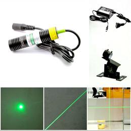 Wholesale Laser Line Green - 532nm 10-50mW green laser module Green cursor line instrument Optional spot   word laser Voltage 5V Level bracket