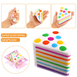 Wholesale New Rainbow Rose - New Arrival Jumbo 10CM Kawaii Squishy Rainbow Cream Cake Super Slow Rising Scented Squeeze Fun Gift Toy