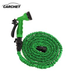 Wholesale Pressure Car Washer - Portable Car Washer 25FT High Pressure Washer Gun Hose Pipe Spray Nozzle 7 Model Flexible Green 2017 NEW