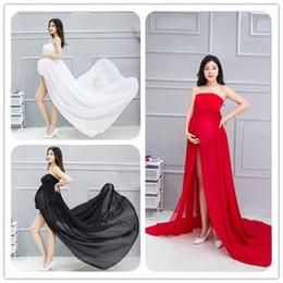 Wholesale Women Pregnancy Gowns - eClouds Hot Sale Elegant Maternity Photography Props Pregnancy Clothes Maternity Dresses For pregnant Women Photo Shoot Gown