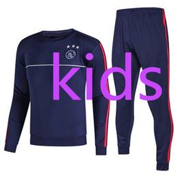 Wholesale Kids Football Suits - Best qualit 17 18 Ajax kids football jacket tracksuit 2017 2018 Ajax Maillot de foot KLAASSEN MILIK child long sleeve jacket Training suit
