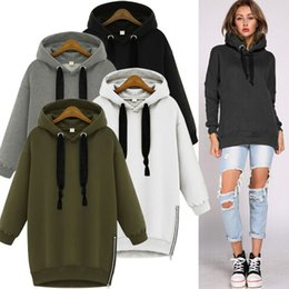 Wholesale Zip Up Hoodie Shirt - Wholesale-Men Women Autumn Fall Winter Casual Unisex Hoodies Shirt Blouse Tops Zip Up Pullover Jacket Overcoat Baggy Top Sweatshirt