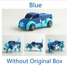 Wholesale Wind Up Toys Robot - free shipping 4 colors 14CM cool Automatic transform Dog Car Vehicle Clockwork Wind up toy for children kids boy girl toy Gift