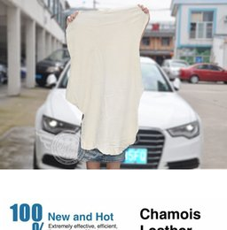 Wholesale Towels Cleaning Cloths - Free Shipping Drying Cleaning Towel Natural Genuine Leather Chamois Shammy Sponge cloth Sheepskin Absorbent Towel Car Washing