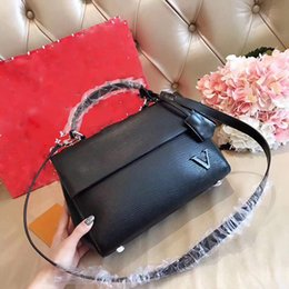 Wholesale Small Leather Satchels - CLUNY BB women Epi leather shoulder bags France famous brand handbags high quality women crossbody bag fashion ladies purse 2018