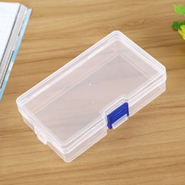 Wholesale Free Plastic Storage Containers - Plastic Clear Storage Box Small Box for Jewelry Earrings Toys Container Free Shipping ELH043
