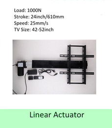 Wholesale Tv Lift Actuator Linear - free shipping 24inch stroke 42''-50''TV usage wireless tv lift linear actuator can be used for cabinet and bed