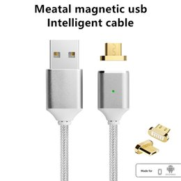 Wholesale Android Magnets - Magnetic Cable,Nylon Braided Micro USB Magnectic Cable Data Charge Cable Magnet Fast Charging Cable for huawei Xiaomi,Samsung,Android
