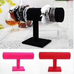 Wholesale Earring Ring Holder - Black T-Bar Jewelry Rack Bracelet Necklace Stand Organizer Holder Display