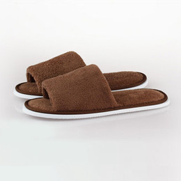 Wholesale Travel Shoes For Men - Hot Sale Travel Hotel Soft Home Slippers Coral Fleece Thicken Bottom Indoor Slippers Women for Men Floor Ladies Shoes TM0059