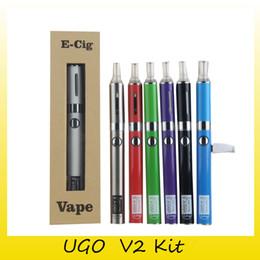 Wholesale Ego V2 Kits - UGO V2 MT3  VII Glass Globe Starter Kit 650 900mAh Battery 2.4ml 2.4ohm Atomizer Ego Evod Vape Pen