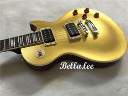 Canada Personnalisé en gros classique couleur d'or sparkle guitare électrique, charge gratuite pour logo personnalisé Offre