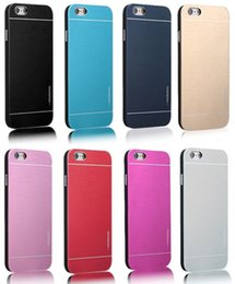 Wholesale Luxury Brushed Aluminum Case - Luxury MOTOMO Brushed Aluminum Metal Plastic Case Cover For iPhone 5 5S SE 6 6S 7 Plus Samsung Galaxy S6 S7 S8 Edge Note5