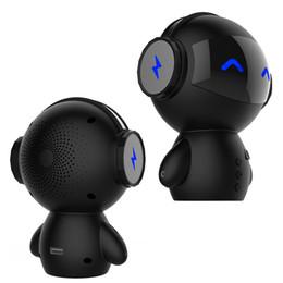 2019 robot lecteur mp3 Portable Mini Robot En forme de 3 en 1 Multifonction Bluetooth Haut-Parleur avec Power Bank Support Carte TF Lecteur MP3 Mains Libres Appel Aux-in Subwoofer robot lecteur mp3 pas cher
