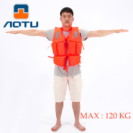 Wholesale Work Jackets For Men - Wholesale- Professional Swimwear Working Life Jacket Foam Vest Survival Suit with Whistle for Outdoor Sport Swimming Drifting Fishing Adult