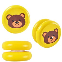 Wholesale Juggling Wholesale - Red Cute animal yo-yo toys Bearing Professional Yoyo Toys wood High Precision Game Special Props diabolo juggling