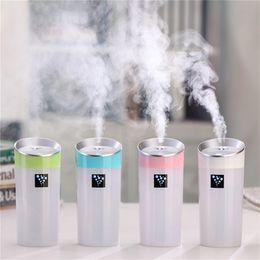 Wholesale Quiet Air - Car Humidifier Air Purifier Cup Aroma Diffuser USB Ultrasonic Humidifier Mist Maker fogger Home Quiet Horizontal Air Conditionin
