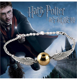 Wholesale Drop Bangle Chain Bracelet - Wholesale- 2016 Hot Selling bracelets Bangles The Movie The deathly Gold-plated for hallows Harry B Potter Bracelet Drop men free Shipping