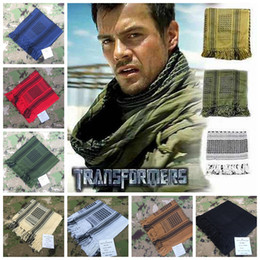 Wholesale Muslim Fashion Men - 100% Cotton Thick Muslim Hijab Shemagh Tactical Desert Arabic Scarf Arab Scarves Men Winter Military Windproof Scarf 50 pcs YYA438