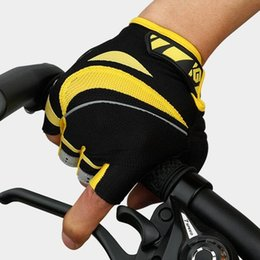 Wholesale Road Bicycle Winter Gloves - Cycling Gloves For Men Outdoor Professional Autumn And Winter Dynamic Glove Road Bicycle Half Finger Sport Mountain Bike Mitts 59kg F