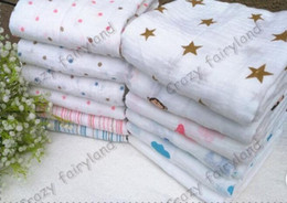 Wholesale Animal Printed Bath Towels - 120*120cm Aden + Anais Muslin Swaddle Blanket Newborn Baby Bath Towel Aden And Anais Swaddle Blankets Functions Baby Swaddle Blanket 1048ZZ