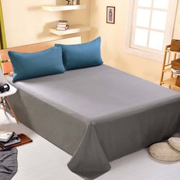 Wholesale Hotel Bedsheet - 2017 New Pure simplicity Bedding Sets Polyester cotton Bed sheet 160*230cm Soft Breathable Environmental Health Bedsheet for family Hotel