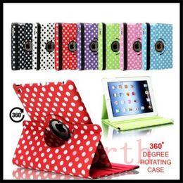 Wholesale Apple Ipad Covers Polka Dot - Polka Dot 360 Rotating Magnetic Leather Case Smart cover Stand for ipad 2 3 4 5 6 ipad air 2 mini 2 retina