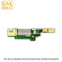 Wholesale Microphone Antenna - DHL Original 200pcs lot For Sony Xperia M4 Aqua E2303 E2353 Antenna Connect Flex Cable Ribbon Board Microphone Signal PCB