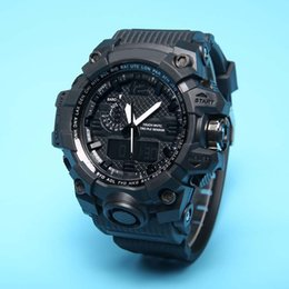 Wholesale watch g shock black - 2018 1pcs Hot relogio G WG men's sports watches GW1000 Display LED Fashion army military shocking watches men Casual Watches