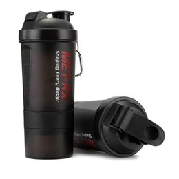 Wholesale Bpa Free Travel Water Bottle - Wholesale- High Quality Creative Non-Toxic BPA Free Camping Equipment And Travel Plastic Water Bottle Drinkware Sport Shaker Cup 500ml