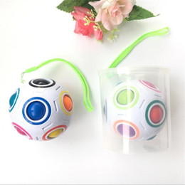 Wholesale Dropshipping Toys - 2017 Rainbow Magic Ball Plastic Cube Twist Puzzle Toys Children's Educational Toy Teenagers Adult fidget cube Dropshipping