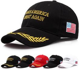 Wholesale Womens Wholesale Fashion America - 200Pcs Make America Great Again Hat Donald Trump Republican Snapback Sports Hats Baseball Caps USA Flag Mens Womens Fashion Cap