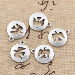 Wholesale Vintage Charm Dove - Wholesale-30pcs Charms peace dove cut out 17*15mm handmade Craft pendant making fit,Vintage Tibetan Silver,DIY for bracelet necklace