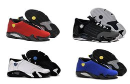 Wholesale Blue Box Delivery - Designer Mens Basketball Shoes Sneakers Retro 14 Athletic Sports Shoes Trainers For Men With Box Full Size Fast Delivery