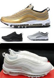 Wholesale Max OG Tripel White Metallic Gold Silver Bullet Swoosh Running Shoes with Box Men and Women SUMMER SCALES WHITE M