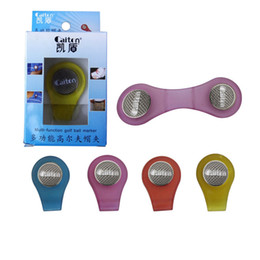 Wholesale Wholesale Golf Marker Hat Clip - Multi-functional Colorful Golf Ball Marker Golf Magnet Cap Clip Professional Ball Marker Hat Clip Golf Training Aids Accessories B83