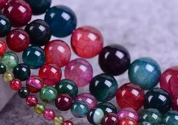 Wholesale Tourmaline Products - Natural Stone Beads Tourmaline agate Round Beads semi - finished products DIY For Jewellery Making 8 10 mm factory direct