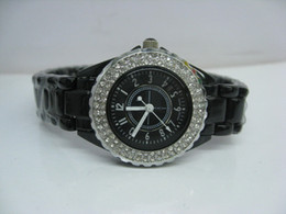 Wholesale Glass Diamonds China - DATE J12 BLACK case china quartz diamond BEzel sport watch fashion new women watch stainless steel luxury wristwatch women's Watches