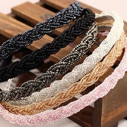 Canada Cristal perlé de vente chaude cheveux cerceau fine perle tête cerceau nouveaux ornements de cheveux coiffe TG006 ordre de mélange 30 pièces beaucoup cheap beaded ornament Offre